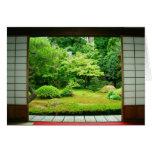 Asia, Japón, Kyoto. Jardín 2 del zen Felicitación