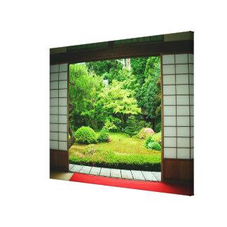 Asia, Japón, Kyoto. Jardín 2 del zen Lona Envuelta Para Galerias