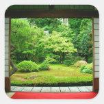 Asia, Japón, Kyoto. Jardín 2 del zen Pegatina Cuadrada