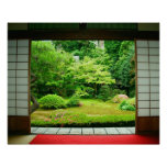 Asia, Japón, Kyoto. Jardín 2 del zen Póster