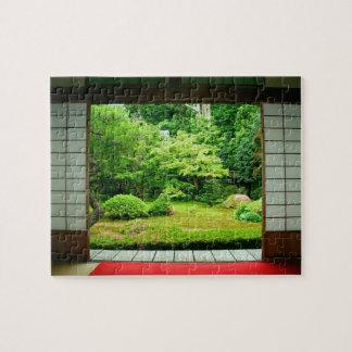 Asia, Japón, Kyoto. Jardín 2 del zen Rompecabezas