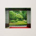 Asia, Japón, Kyoto. Jardín 2 del zen Rompecabeza