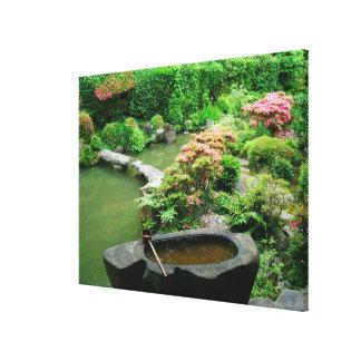 Asia, Japón, Kyoto. Jardín del zen Impresión De Lienzo