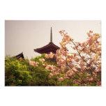 Asia, Japón, Kyoto, templo de Kiyomizu en primaver Fotografía