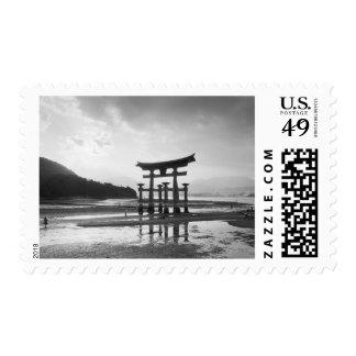 Asia, Japón, Myajima. Puerta de Torri Franqueo