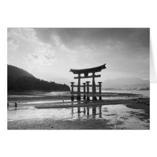 Asia, Japón, Myajima. Puerta de Torri Tarjeta