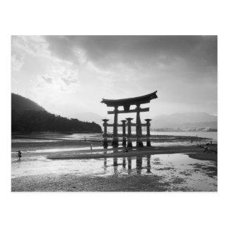 Asia, Japón, Myajima. Puerta de Torri Tarjeta Postal