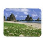 Asia, Japón, Okinawa, costa costa de Yambaru, mar Iman Rectangular