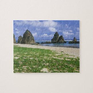 Asia, Japón, Okinawa, costa costa de Yambaru, mar Puzzles
