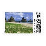Asia, Japón, Okinawa, costa costa de Yambaru, mar Sello Postal