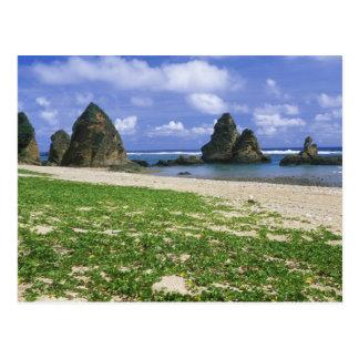 Asia, Japón, Okinawa, costa costa de Yambaru, mar Tarjeta Postal