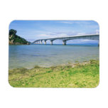 Asia, Japón, Okinawa, puente de Kouri Iman