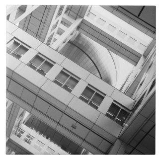 Asia, Japón, Tokio. Edificio de Fuji TV, Odaiba Azulejo Cuadrado Grande