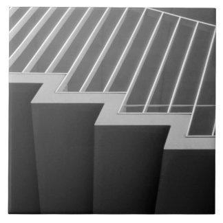Asia, Japón, Tokio. Escaleras en la Tokio 2 Azulejo Cuadrado Grande