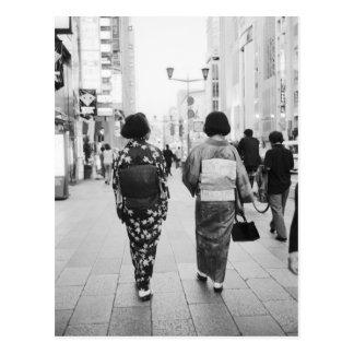 Asia, Japón, Tokio. Geishas en el Ginza. Postales