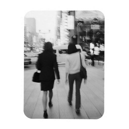 Asia, Japón, Tokio. Mujeres jovenes en el Ginza. Imanes