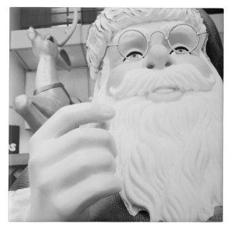 Asia, Japón, Tokio. Papá Noel en Ikebukuro Azulejo Cuadrado Grande