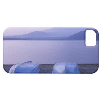 Asia, Japón, Yamanashi, botes de remos en el lago Funda Para iPhone SE/5/5s