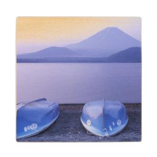 Asia, Japón, Yamanashi, botes de remos en el lago Posavasos De Arce