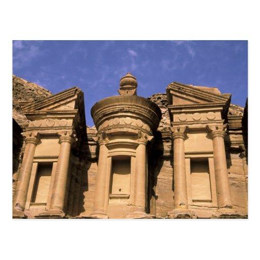 Asia, Jordan, Petra. El Deir, the Monastery. 2 Post Card