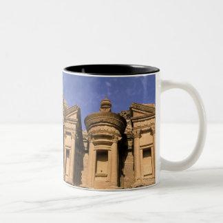 Asia, Jordan, Petra. El Deir, the Monastery. 2 Two-Tone Coffee Mug