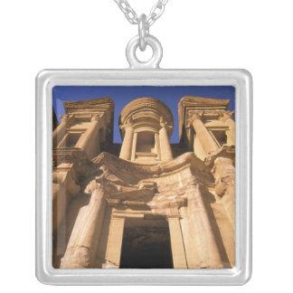 Asia, Jordan, Petra. El Deir, The Monastery. Square Pendant Necklace