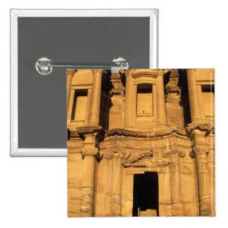Asia, Jordan, Petra. El Deir, the Monastery. Pinback Button