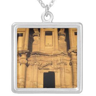 Asia, Jordan, Petra. El Deir, the Monastery. Silver Plated Necklace
