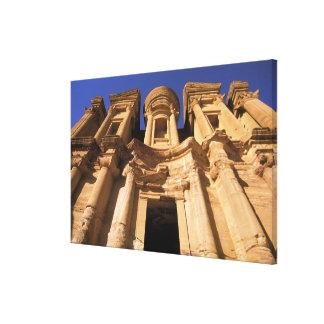 Asia Jordania Petra EL Deir el monasterio Impresión De Lienzo