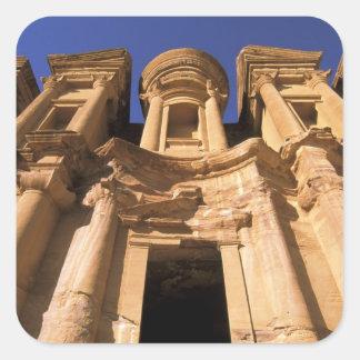 Asia, Jordania, Petra. EL Deir, el monasterio Pegatina Cuadrada