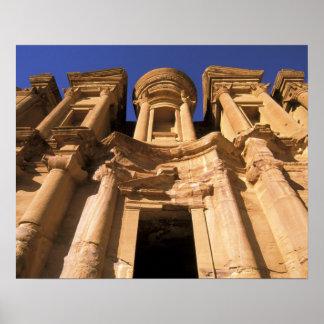 Asia, Jordania, Petra. EL Deir, el monasterio Póster