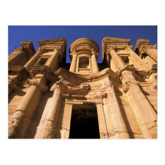Asia, Jordania, Petra. EL Deir, el monasterio Tarjeta Postal