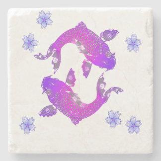 Asia Koi Fish Stone Coaster