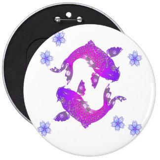 Asia Koi Pinback Button
