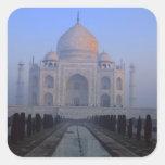Asia; La India; Agra. El Taj Mahal. Calcomanías Cuadradass
