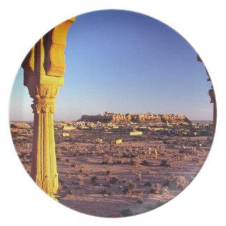 Asia, la India, Rajasthán, Jaisalmer. La visión de Platos Para Fiestas