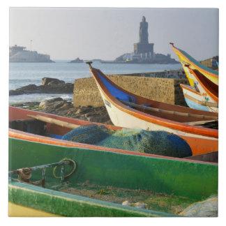 Asia, la India, Tamil Nadu, Kanniyakumari 2 Azulejo Cuadrado Grande