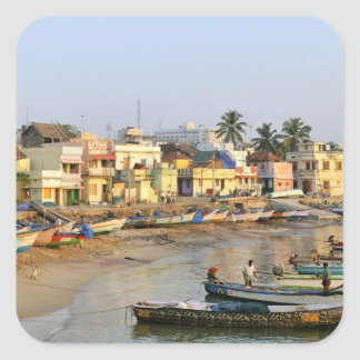 Asia, la India, Tamil Nadu, Kanniyakumari Pegatina Cuadrada