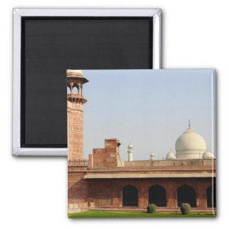 Asia, la India, Uttar Pradesh, Agra. El Taj 6 Imán Cuadrado