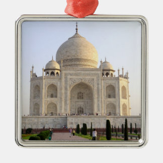 Asia, la India, Uttar Pradesh, Agra. El Taj 8 Adorno Navideño Cuadrado De Metal
