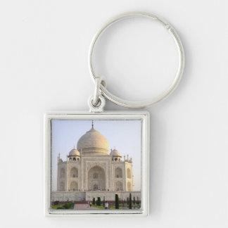 Asia, la India, Uttar Pradesh, Agra. El Taj 8 Llavero Cuadrado Plateado