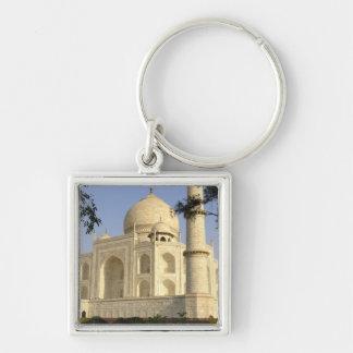 Asia, la India, Uttar Pradesh, Agra. El Taj Llavero Cuadrado Plateado