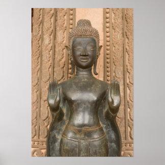 Asia, Laos, Vientián, Buda de bronce en Hawn Impresiones