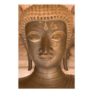 Asia, Laos, Vientián, escultura de bronce en Wat Cojinete
