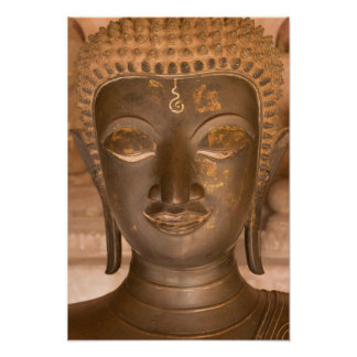 Asia, Laos, Vientián, escultura de bronce en Wat Impresiones