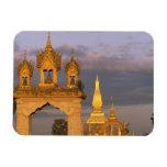 Asia, Laos, Vientián. Ese templo de Luang Imanes Flexibles