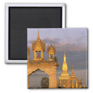 Asia, Laos, Vientián. Ese templo de Luang Imán Cuadrado