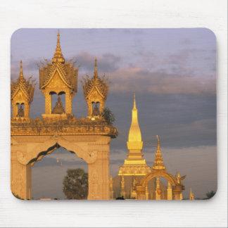 Asia, Laos, Vientián. Ese templo de Luang Alfombrilla De Ratones