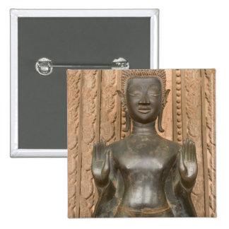 Asia, Laos, Vientiane, Bronze Buddha at Hawn Button