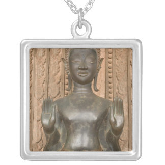 Asia, Laos, Vientiane, Bronze Buddha at Hawn Necklaces